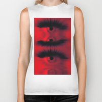 all seeing eye Biker Tanks featuring EYE AM All Seeing by Eye Am