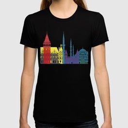 Istanbul skyline pop T-shirt