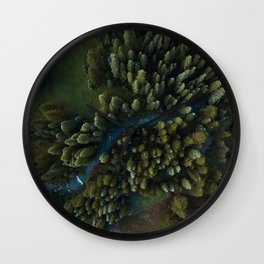 Arial View of River Wall Clock