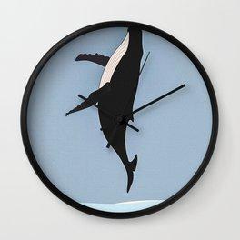 Whale Jumping II Wall Clock