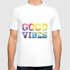 Good Vibes Mens Fitted Tee White MEDIUM