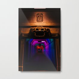 Rainbow Light Tunnel III Metal Print