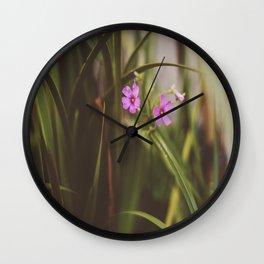 trebol flowers Wall Clock