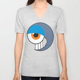 Eyeball Smirking Unisex V-Neck
