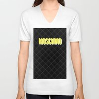 moschino V-neck T-shirts featuring MOSCHINO Quilted Bag by RickyRicardo787