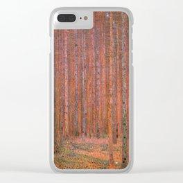 Fir Forest, Gustav Klimt Clear iPhone Case