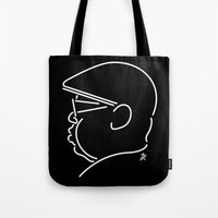 notorious big Tote Bags featuring Notorious by Ant Errickson