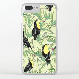 toucan forest Clear iPhone Case