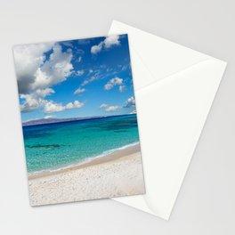 Kastraki beach of Naxos island in Cyclades, Greece Stationery Cards