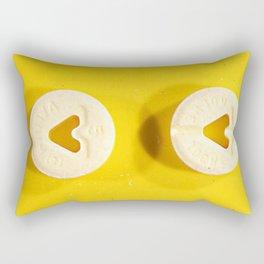Yellow Valium Rectangular Pillow