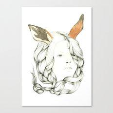 Gazelle Girl Canvas Print