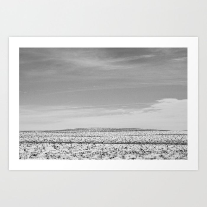 uphill (that was farther than I thought) Art Print