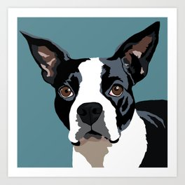 Mendo the Boston Terrier Art Print