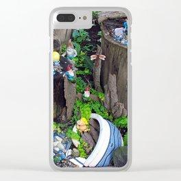 Dwarf/Gnome Mining Camp Clear iPhone Case