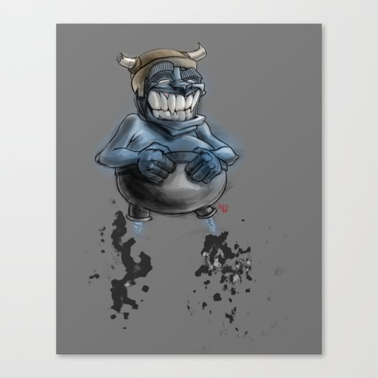 Possibly a Tricky Warrior Dwarf Demon Canvas Print