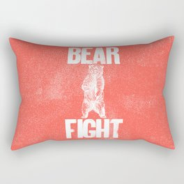 Bear Fight Rectangular Pillow