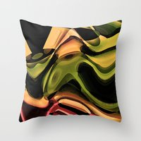 rustic Throw Pillows featuring Rustic by AlexinaRose