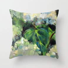 Hydrangeas in the Catskills Throw Pillow