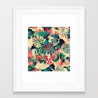 jungle Framed Art Prints featuring Jungle by Demi Goutte