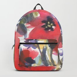 Big Poppy Field Backpack