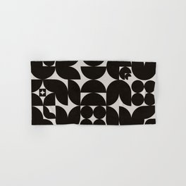 Black & White Mid Century Modern Pattern Hand & Bath Towel