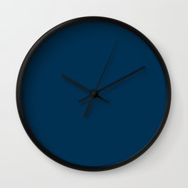Prussian Blue - solid color Wall Clock
