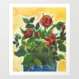 Sweet Red Roses Art Print