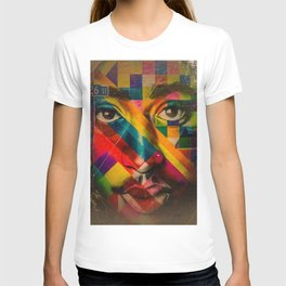 African American Oil Painting 26th Street Miami, Florida Mural 'Legends of Hip Hop' T-shirt