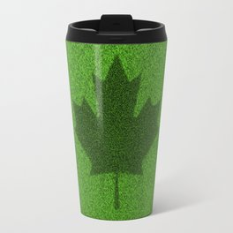Grass flag Canada / 3D render of Canadian flag grown from grass Travel Mug