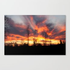 South Georgia Sky on Fire 3 Canvas Print