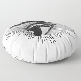 I See You. Black and White Floor Pillow