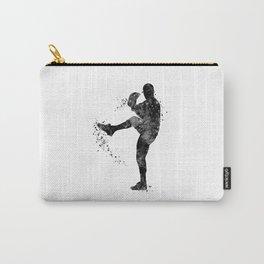 Baseball Boy Art Softball Pitcher Black and White Art Sports Gift Carry-All Pouch