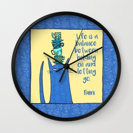 life is a balance ... Wall Clock