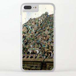 Hindi Temple Madurai Clear iPhone Case