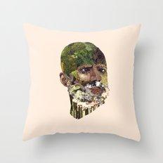 Earth Head Throw Pillow