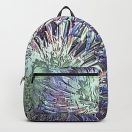 Artfully abstract blooming ice flowers Backpack