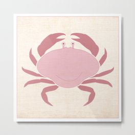 Crab - Under the Sea Series Nursey Print Metal Print