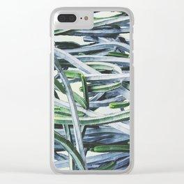 Green Crush Cactus I Clear iPhone Case