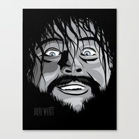 wwe Canvas Prints featuring WWE - Bray Wyatt by Chaotic Color