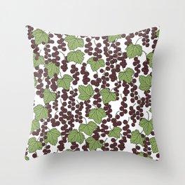 Black Currants Throw Pillow