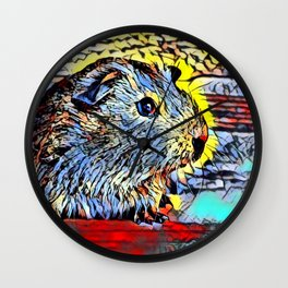 Color Kick - Guinea pig Wall Clock