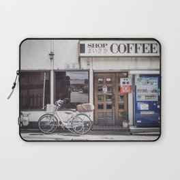 Bike and Coffee Shop in Kyoto Laptop Sleeve