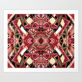Fragmented Geometric Abstract Design Art Print