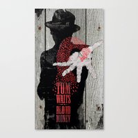 tom waits Canvas Prints featuring Tom Waits by J.C.D