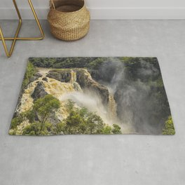 Beautiful wild waterfall Rug