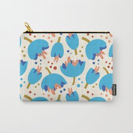 Flower Cups Blue Carry-All Pouch
