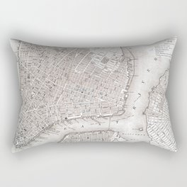 Vintage New York City Map Rectangular Pillow