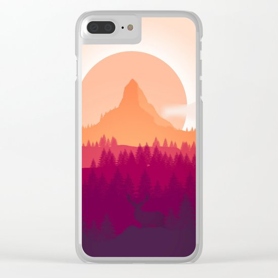 Wildlife Forest Clear iPhone Case