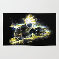foo fighters Area & Throw Rugs featuring The Prince of all fighters by Barrett Biggers