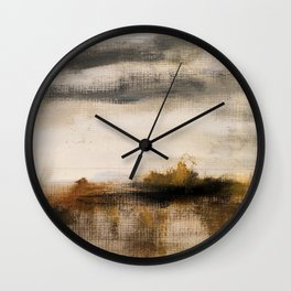 Steppe landscape Wall Clock